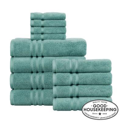 Turkish Cotton Ultra Soft 12-Piece Towel Set