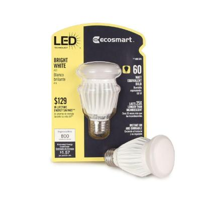 EcoSmart 13-Watt (60W) A19 Bright White LED Light Bulb (2-Pack)-DISCONTINUED