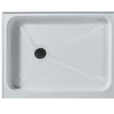 32 in. x 48 in. Rectangular Shower Tray in White with Left Drain Product Photo