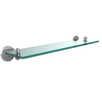 Allied Brass South Beach Collection 22 in. Glass Vanity Shelf with Beveled Edges in Polished Chrome