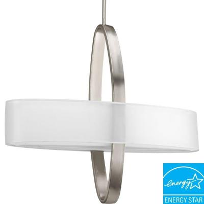 Progress Lighting Cuddle Collection 2-Light Brushed Nickel Pendant