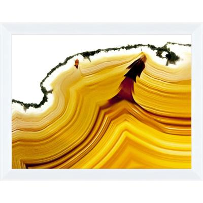 "PTM Images 14 in. x 18 in. ""Lava Agate A"" Framed Wall Art"