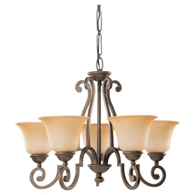 Sea Gull Lighting Brandywine 5-Light Antique Bronze Single Tier Chandelier 39032BLE-71