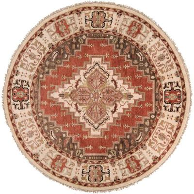 Artistic Weavers Bargello Rust 8 ft. Round Area Rug