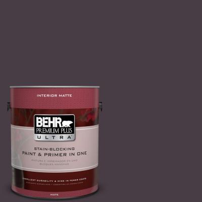1-gal. #PPU17-20 Eclectic Purple Flat Enamel Interior Paint