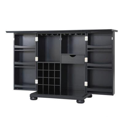 Alexandria Expandable Bar Cabinet in Black Product Photo