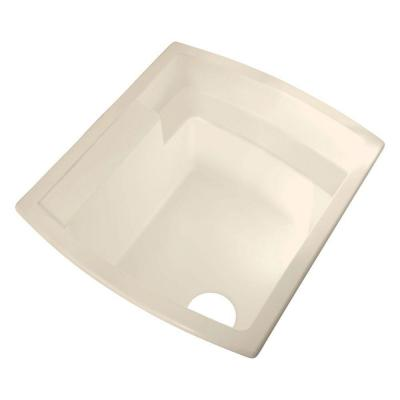 STERLING Latitude 22 in. x 25 in. Vikrell Undermount Utility Sink in Biscuit-DISCONTINUED