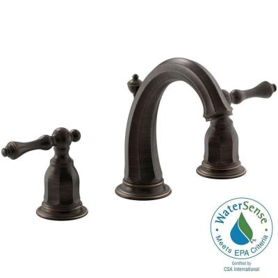 Kelston 8 in. Widespread 2-Handle Water-Saving Bathroom Faucet in Oil-Rubbed