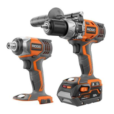 X4 18-Volt Lithium-Ion Cordless Hammer Drill/Driver and Impact Driver Cordless