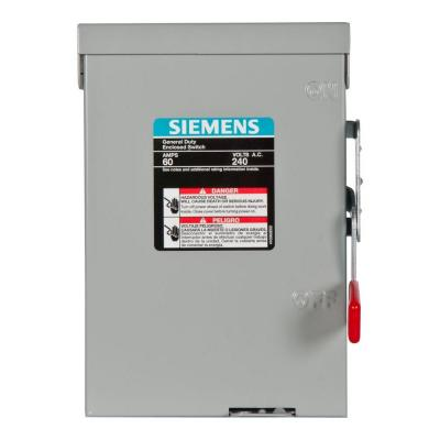 Siemens General Duty 60-Amp 240-Volt Double-Pole Outdoor Non-Fusible Safety Switch