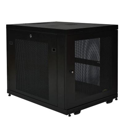 12U Rack Enclosure Server Cabinet Doors and Sides 300 lb. Capacity
