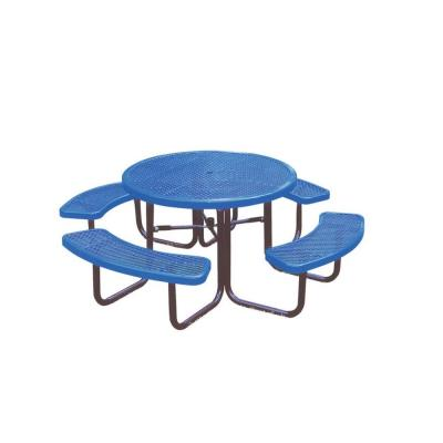 Ultra Play 46 in. Blue Commercial Park Diamond Round Portable Table