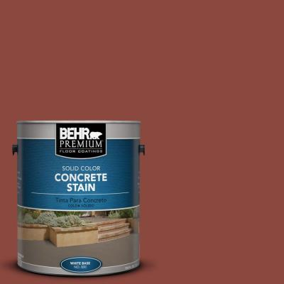 1-Gal. #PFC-10 Deep Terra Cotta Solid Color Concrete Stain