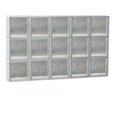 28.75 in. x 17.25 in. x 3.125 in. Diamond Pattern Non-Vented Glass Block Window Product Photo