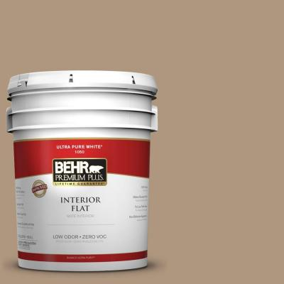 BEHR Premium Plus Home Decorators Collection 5-gal. #HDC-WR14-3 Roasted Hazelnut Flat Interior Paint - DISCONTINUED