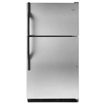Whirlpool 18.5 cu. ft. Top Freezer Refrigerator in Stainless Steel