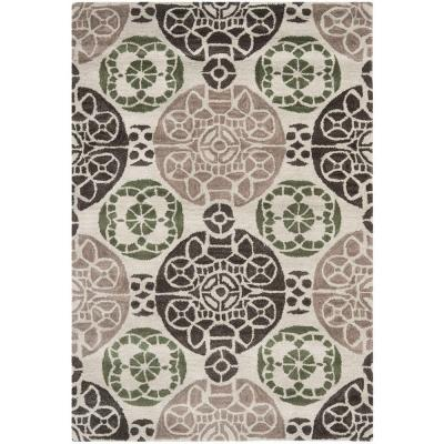 Safavieh Wyndham Ivory/Brown 4 ft. x 6 ft. Area Rug