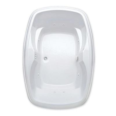 Azra I 5 ft. Center Drain Acrylic Soaking Tub in White