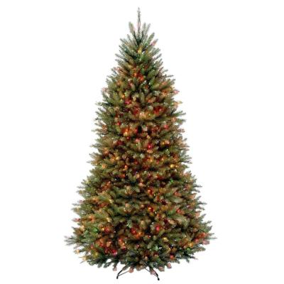 9 ft. Dunhill Fir Hinged Artificial Christmas Tree with 900 Multicolor