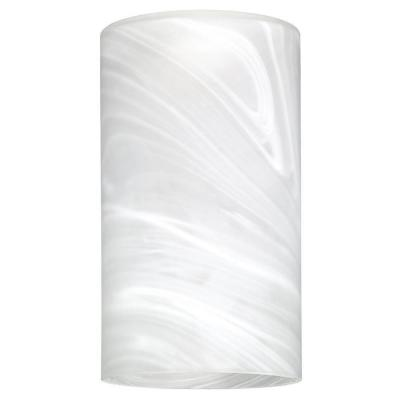 7-7/8 in. Hand-Blown White Alabaster Large Cylinder Shade with 2-1/4 in.