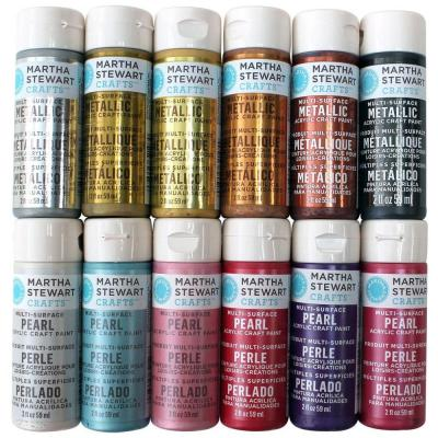 Martha stewart crafts 2 oz 12 color multi surface glitter for Martha stewart glass paint colors