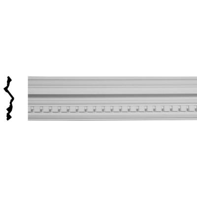 6-3/8 in. x 7-3/4 in. x 9-7/8 in. x 96-1/8 in. Polyurethane Dentil Crown Moulding Product Photo