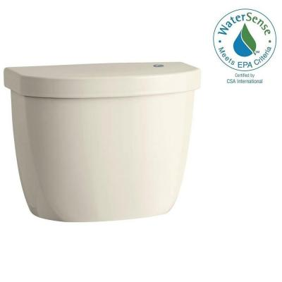 Cimarron Touchless 1.28 GPF Single Flush Toilet Tank Only in Almond