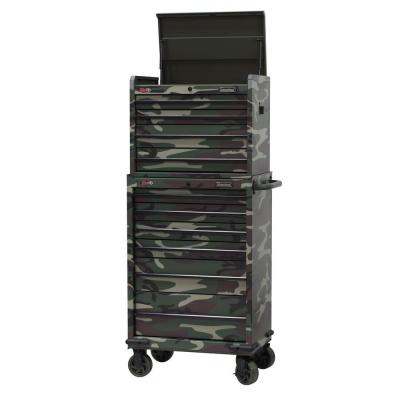 International 27 in. 10-Drawer Tool Chest and Cabinet Set with Camo Design