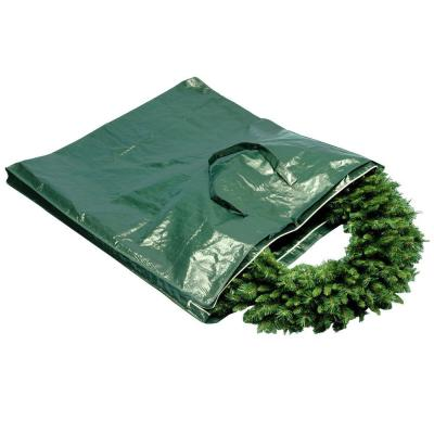 Heavy Duty Wreath and Garland Storage Bag with Handles and Zipper-Fits