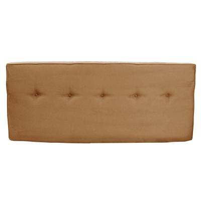 SoHo Saddle Microsuede Twin Headboard with Five Buttons Product Photo
