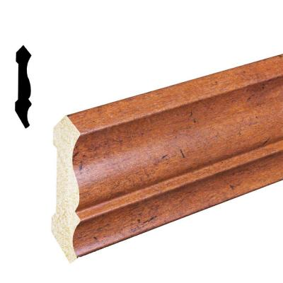 1/2 in. x 3-3/16 in. x 96 in. Polystyrene Whiskey Maple Crown Moulding (Pack of 5) Product Photo