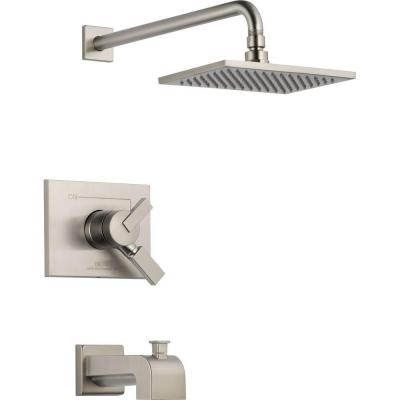 delta vero 1 handle tub and shower faucet trim kit in stainless valve