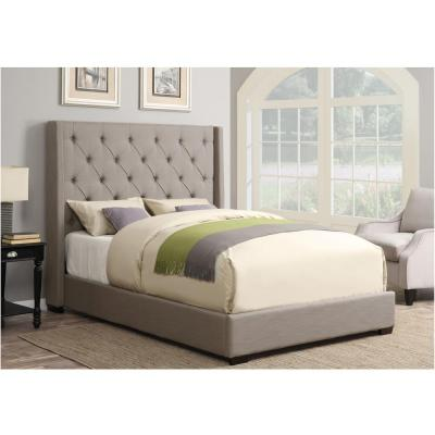 Pulaski Furniture All-in-1 Taupe Queen Upholstered Bed