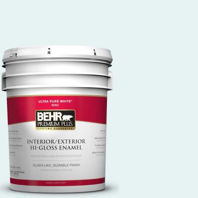 5-gal. #BL-W4 Ethereal White Hi-Gloss Enamel Interior/Exterior Paint