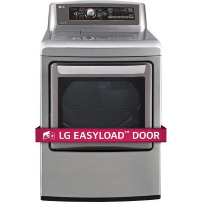 EasyLoad 7.3 cu. ft. Electric Dryer with Steam in Graphite Steel