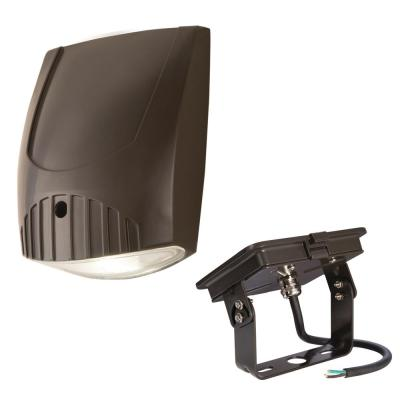 Halo Bronze Outdoor Integrated LED Wall Pack with Trunnion Mount Kit