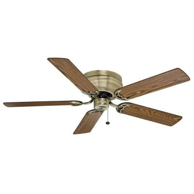 Casablanca Four Seasons III Hugger 52 in. Antique Brass Ceiling Fan-DISCONTINUED