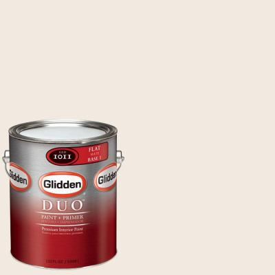 Glidden DUO 1-gal. #GLC14-01F Antique White Flat Interior Paint with Primer