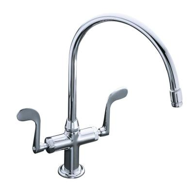 Essex 1 or 3-Hole 2-Handle Standard Kitchen Faucet in Polished Chrome