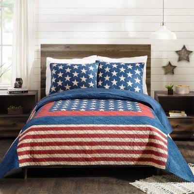 Americana Patch Cotton Quilt Set