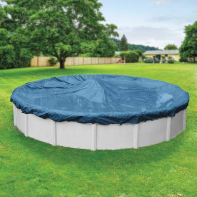 Super Round Imperial Blue Solid Above Ground Winter Pool Cover