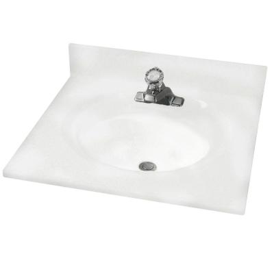 American Standard Astra Lav 31 in. Cultured Marble Single Basin Vanity Top in White Swirl with White Swirl Basin