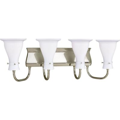 Progress Lighting Lockwood Collection Brushed Nickel 4-light Vanity Fixture P3148-09