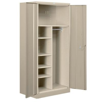 Salsbury Industries 8000 Series 36 in. W x 78 in. H x 24 in. D Combination Heavy Duty Storage Cabinet Assembled in Tan