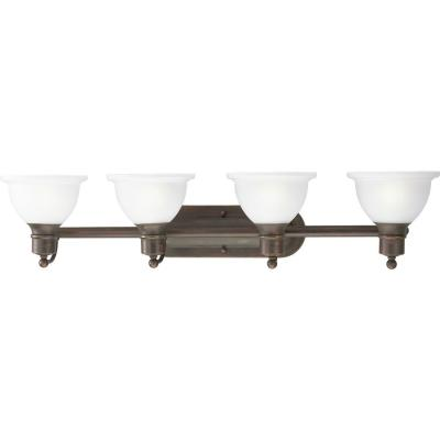 Progress Lighting Madison Collection 4-Light Antique Bronze Bath Light P3164-20