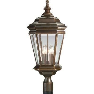 Crawford Collection Oil Rubbed Bronze 4-light Post Lantern Product Photo