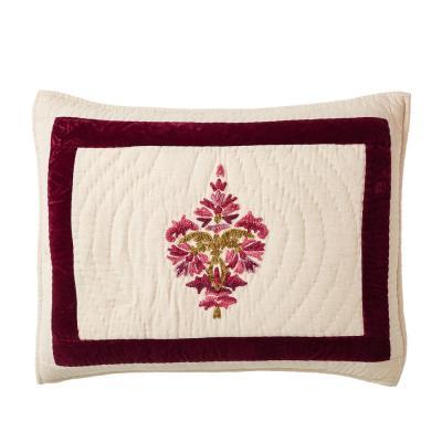 Orleans Geometric Textured Cotton Blend Sham