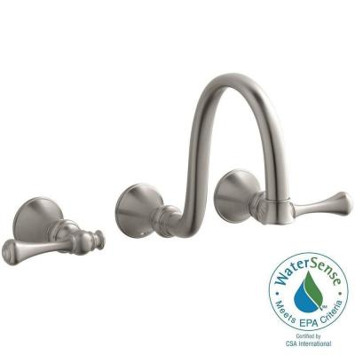 Revival Wall-Mount Water-Saving Bathroom Faucet Trim Kit in Vibrant Brushed