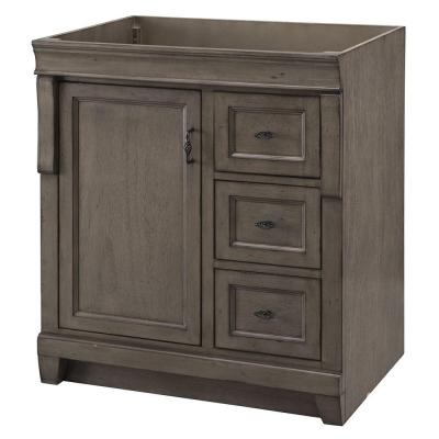 Naples 30 in. W Vanity Cabinet Only in Distressed Grey