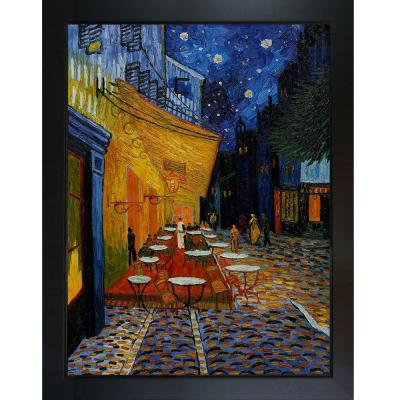 48 in. x 36 in. Cafe Terrace at Night Hand Painted